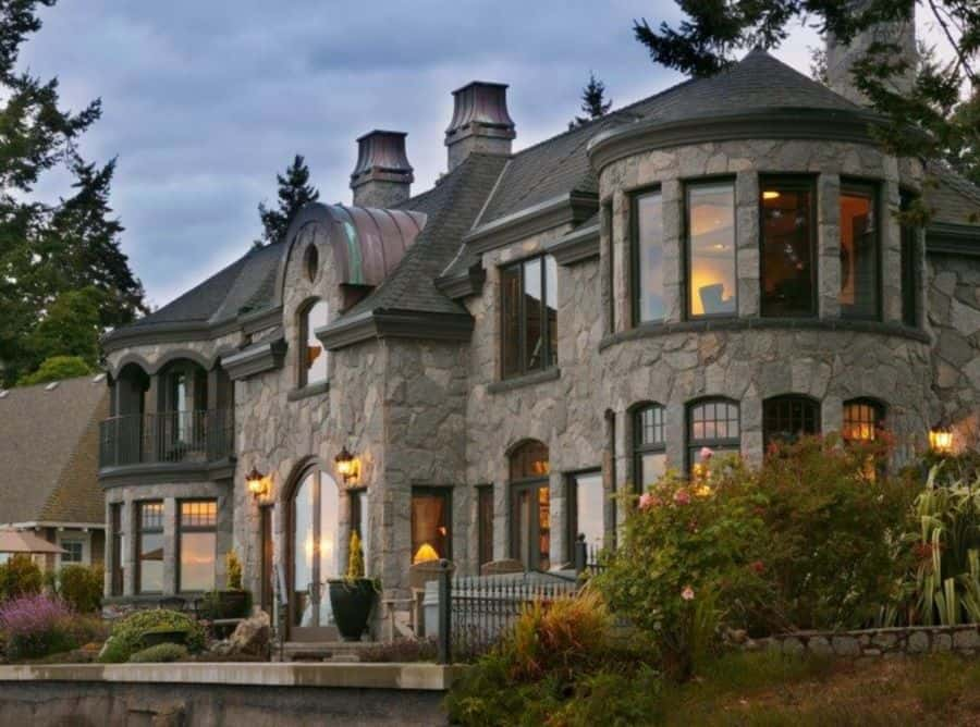 Experience a castle-like feel with a stone Victorian.