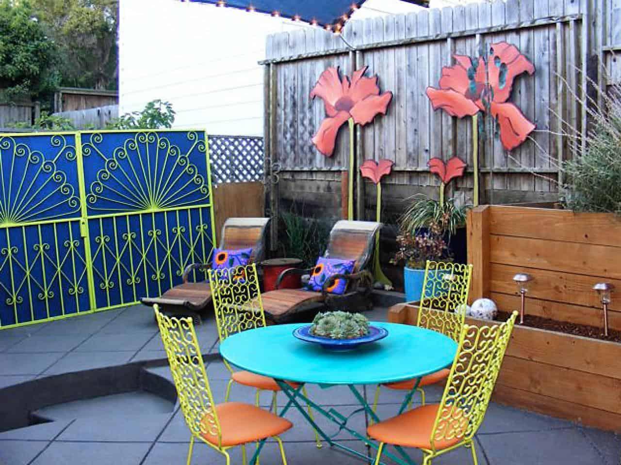 Floral Patio Furniture