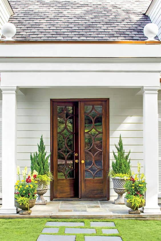 French wood front door design