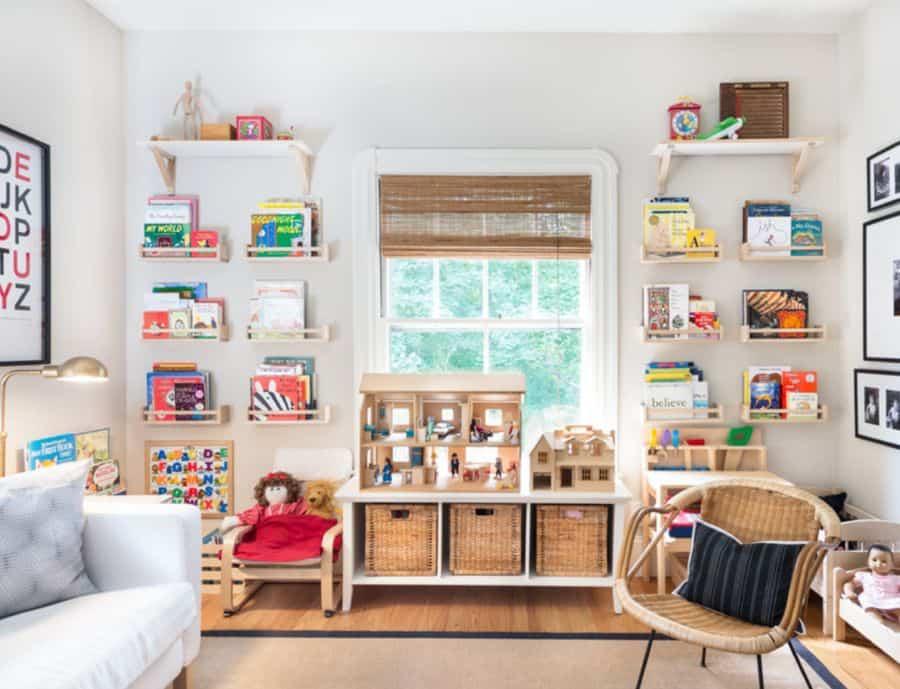 Leave space between shelves.