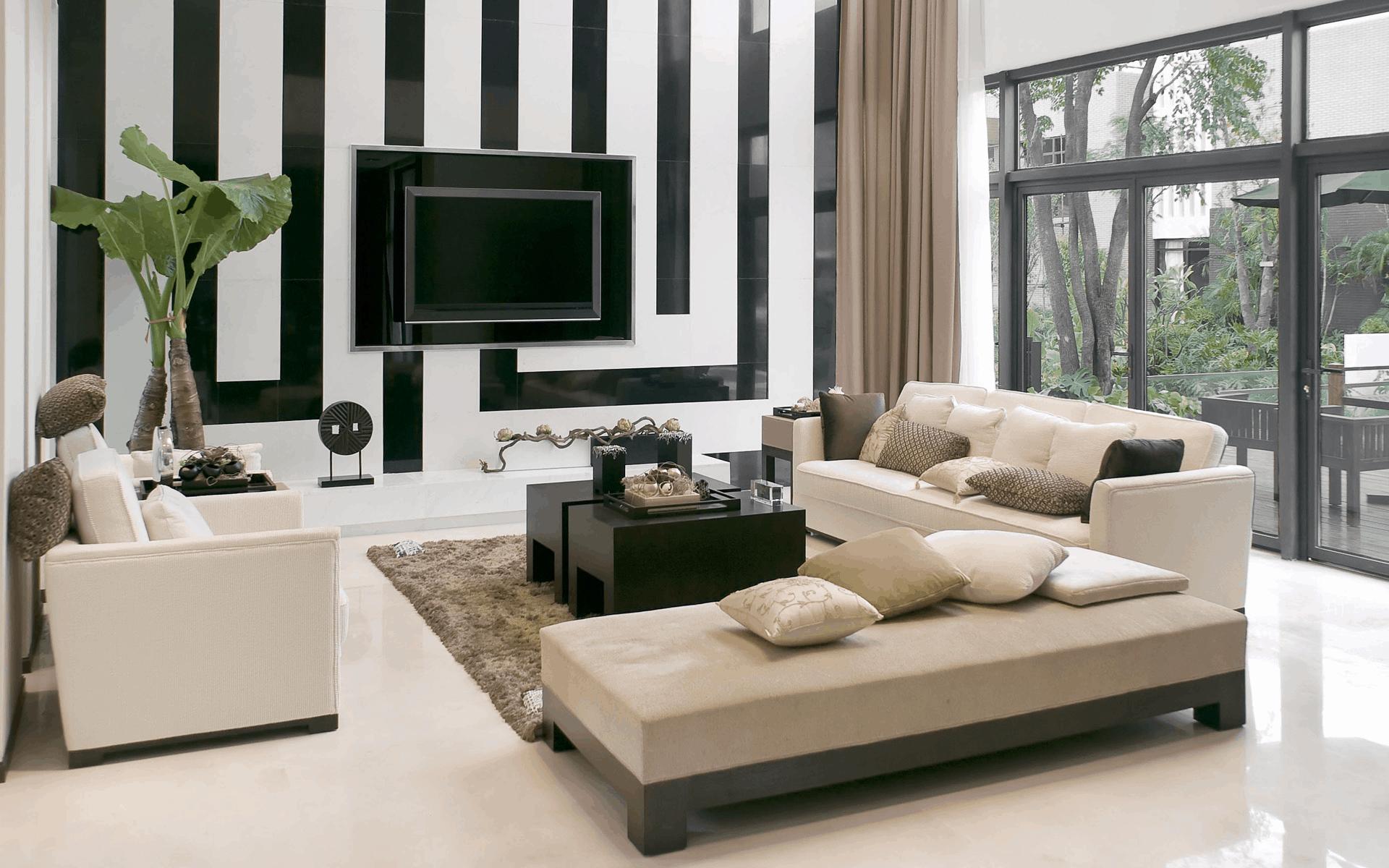 Modern Living Room Ideas – wallpaper