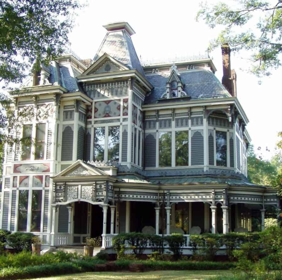 This elegant victorian home stands out.