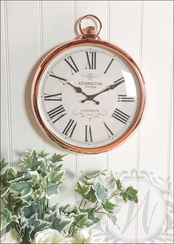 french vintage pocket watch wall clock