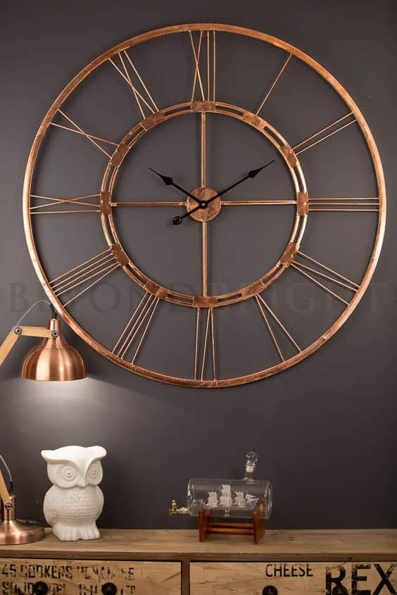 modern copper wall clock 40 Cool Wall Clocks For Any Room Of The House