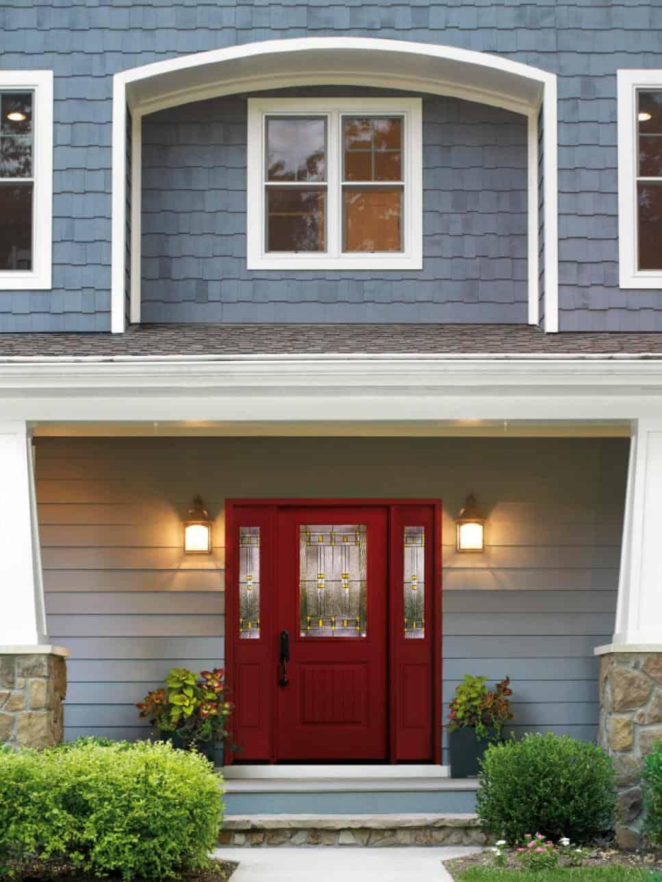 red front door color inspiration