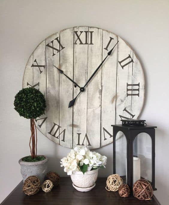 vintage distressed wall clock 40 Cool Wall Clocks For Any Room Of The House