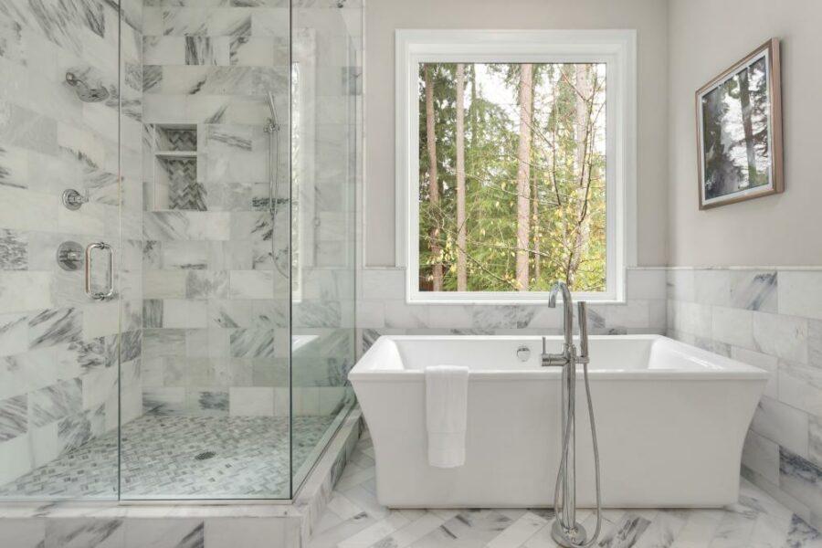 White Shower Tile Idea