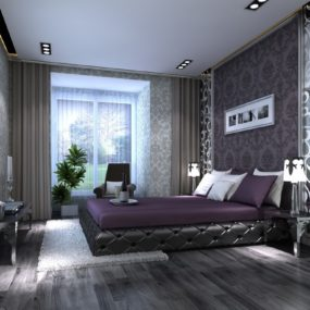 Affordable Purple And Gray Bedroom Ideas Cool Decoration On Bedroom Design Ideas With Gray Bedroom 285x285 40 Gray Bedrooms Youll Be Dreaming About Tonight