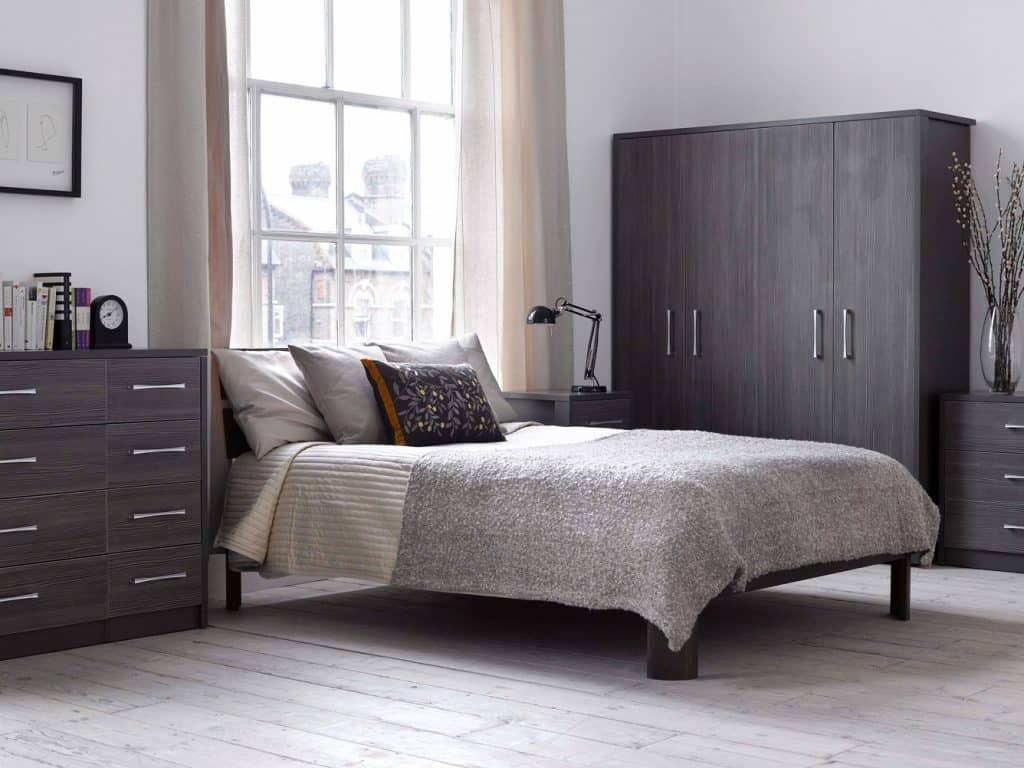 Amusing-Design-Of-The-Gray-Bedroom-Furniture-With-Grey-Wooden-Cabinets-And-Wardrobe-Ideas-Added-With-White-Wooden-Floor-Ideas