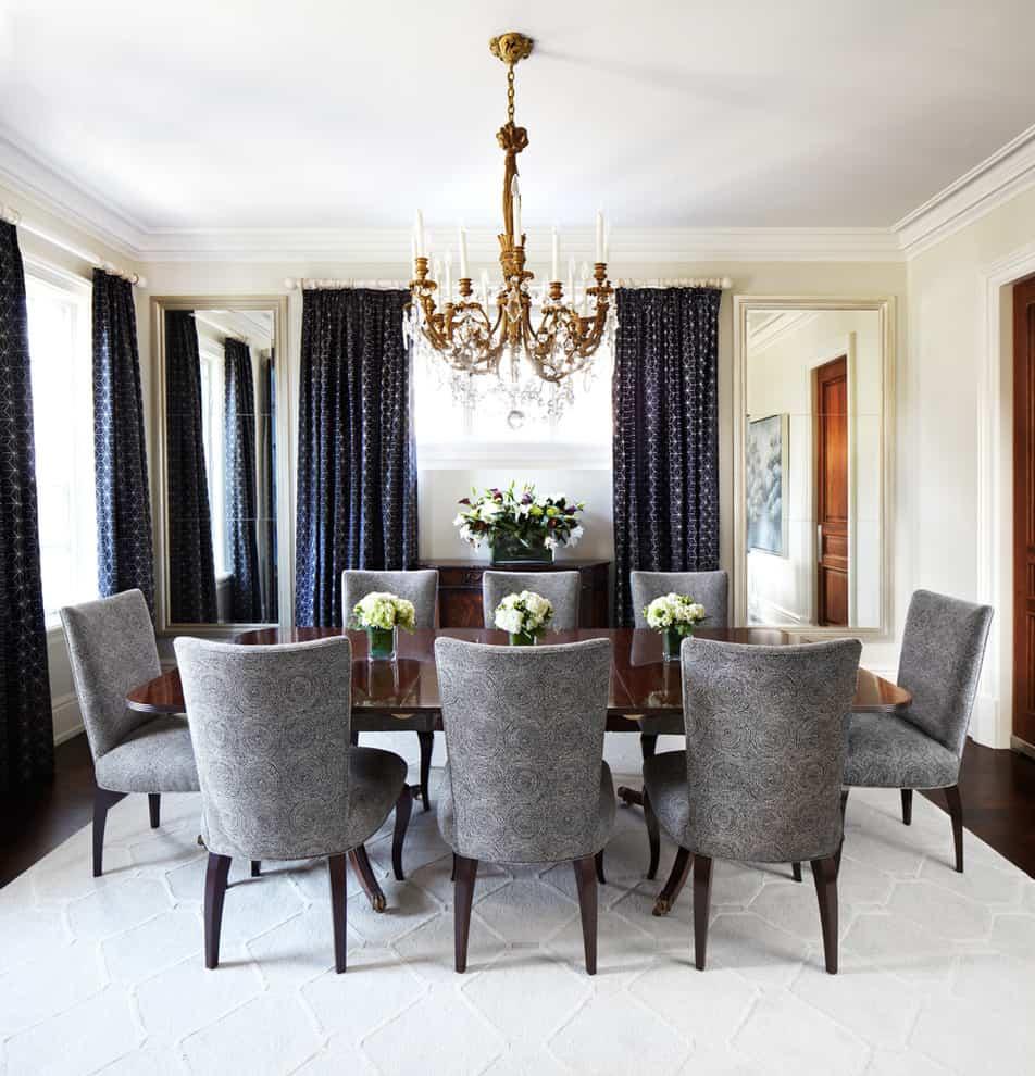 Breathtaking-Brass-Chandelier-decorating-ideas-for-Dining-Room-Traditional-design-ideas-with-Breathtaking-beige-mirror-beige