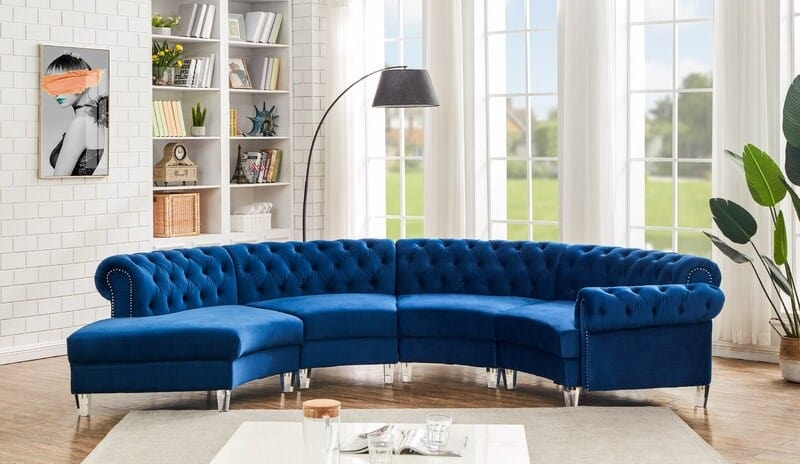Classic Curved Sectional Sofa
