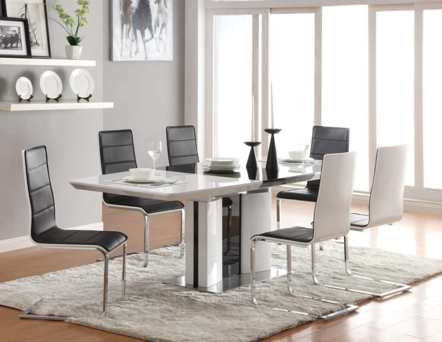 Fresh View in gallery Contemporary White Dining Table With Ingenious Dining Room Chair Design Including Dining Room Furniture Dining Room