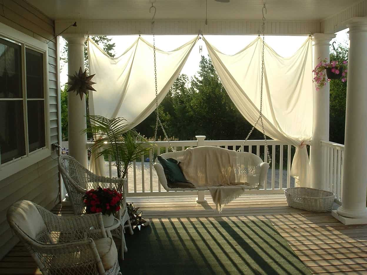 covered porch decorating ideas