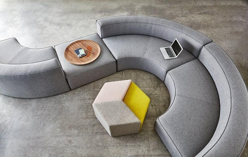 Curved Sectional Sofa in Gray 25 Curved Sectional Sofas: Find a Curved Couch for Your Family
