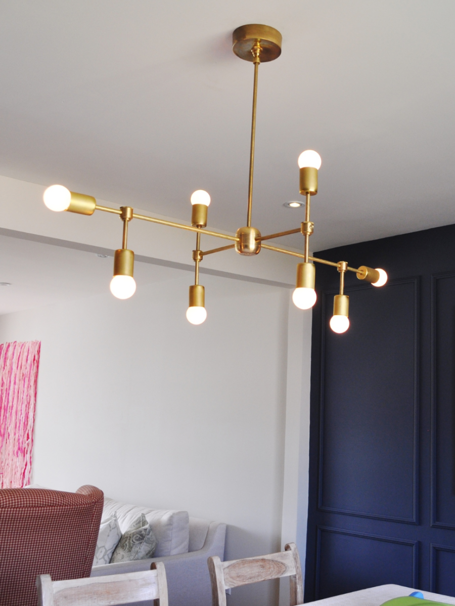 DIY Brass Chandelier Round Bulbs velvettoolbox 900x1198 Ignite The Night With These 15 Brass Chandeliers