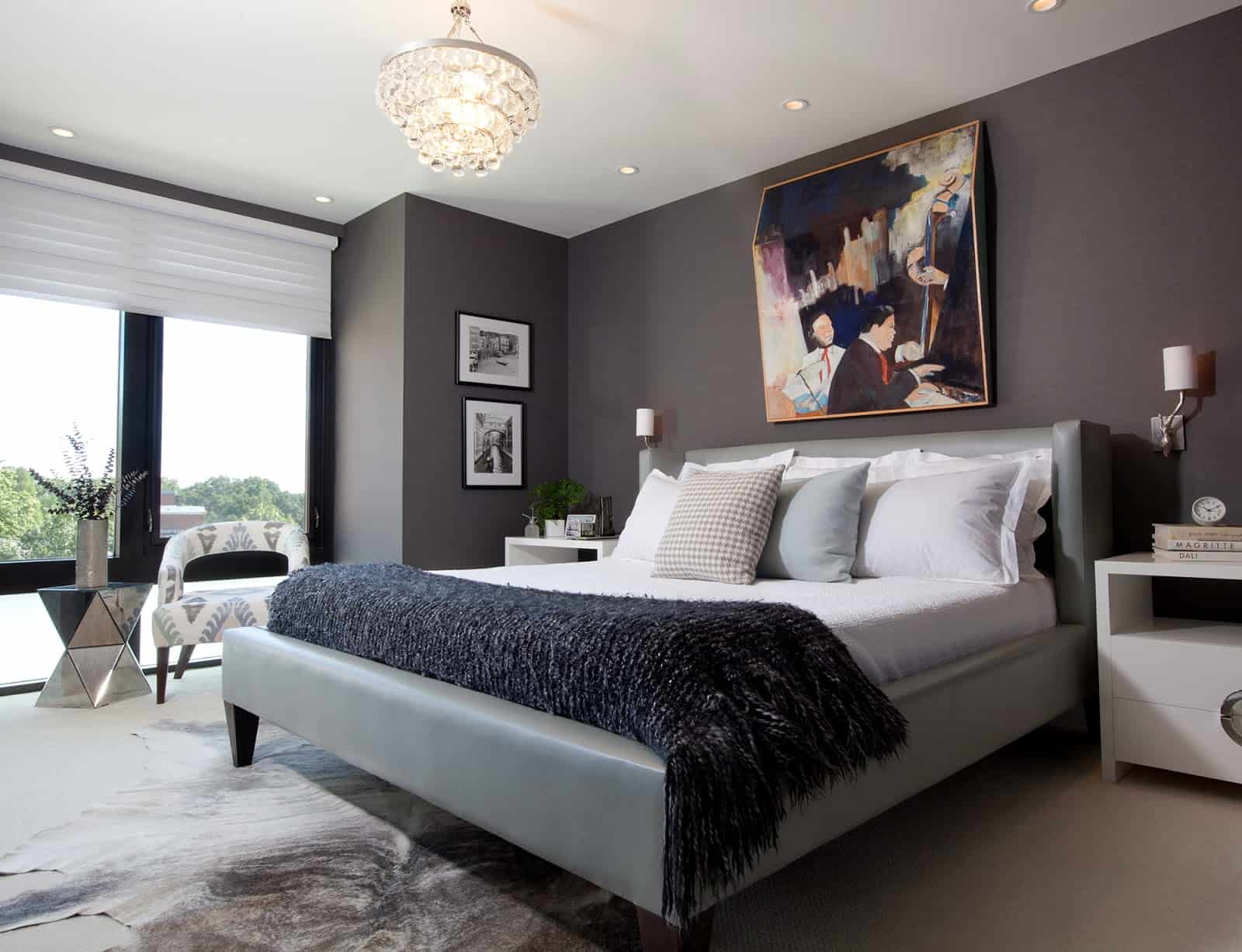 Fabulous-Gray-Bedroom-Master-Bedroom-Charcoal-Dark-Gray-Wall-Paper-Upholstered-Modern-Platform-Bed-Amy-Elbaum-Designs-Cococozy-Grey-Bedroom-With-Dark-Furniture-About-Gray-Bedroom