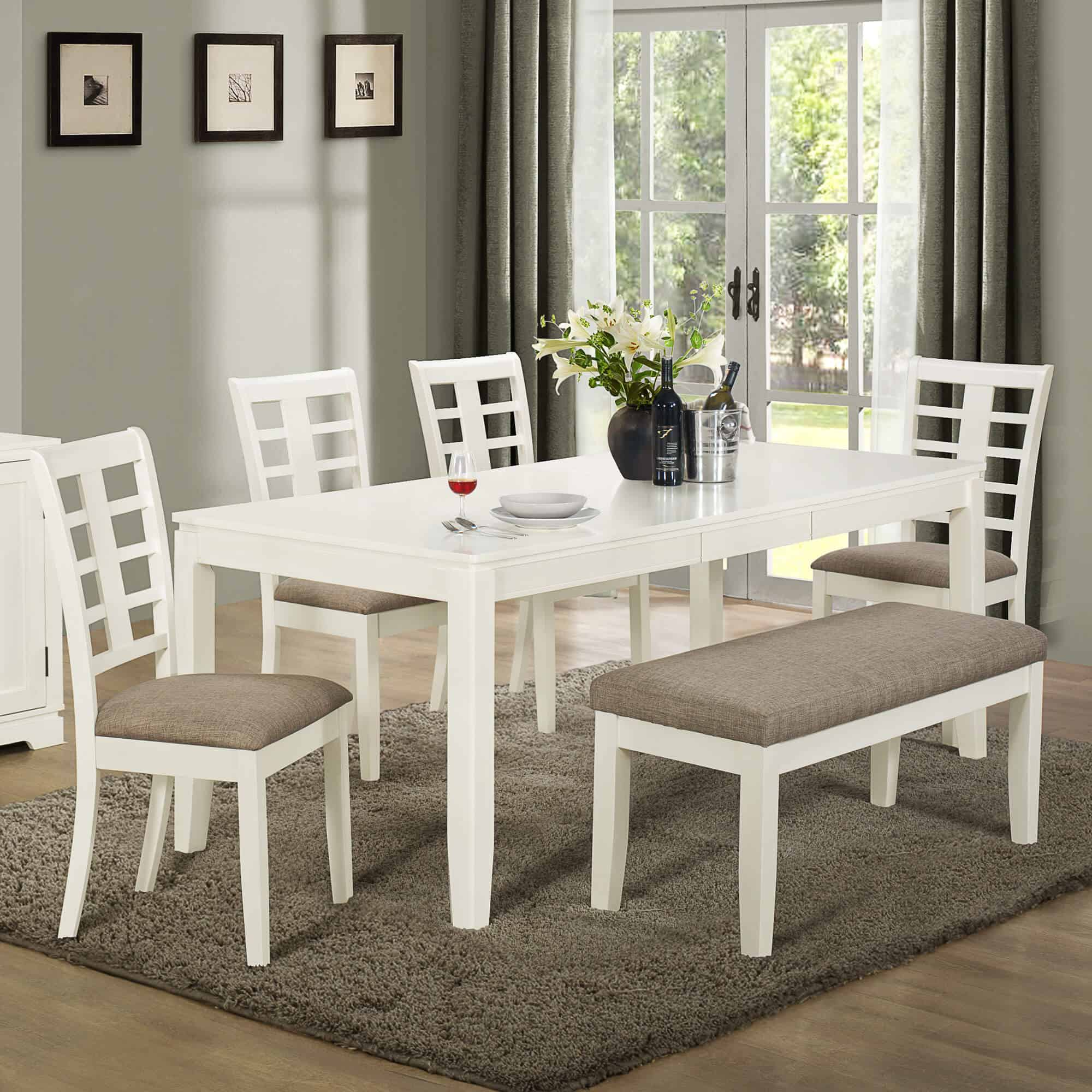 Fascinating-White-Dining-Room-Table-With-Bench-53-In-Ikea-Dining-Room-Table-And-Chairs-with-White-Dining-Room-Table-With-Bench
