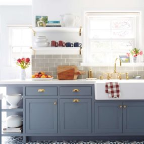 Grayish Blue 285x285 Blue Paint Colors to Use in Your Kitchen for a Chic Upgrade