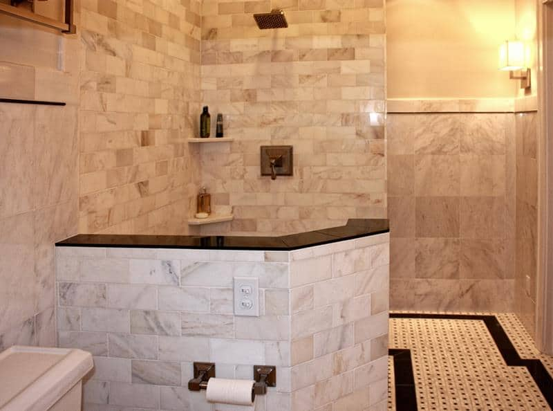 Low stunning tile shower
