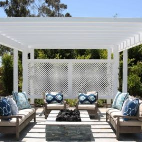 Pergola Weather Is Not a Concern 285x285 Fire Pit Design Ideas That Will Enhance Your Backyard