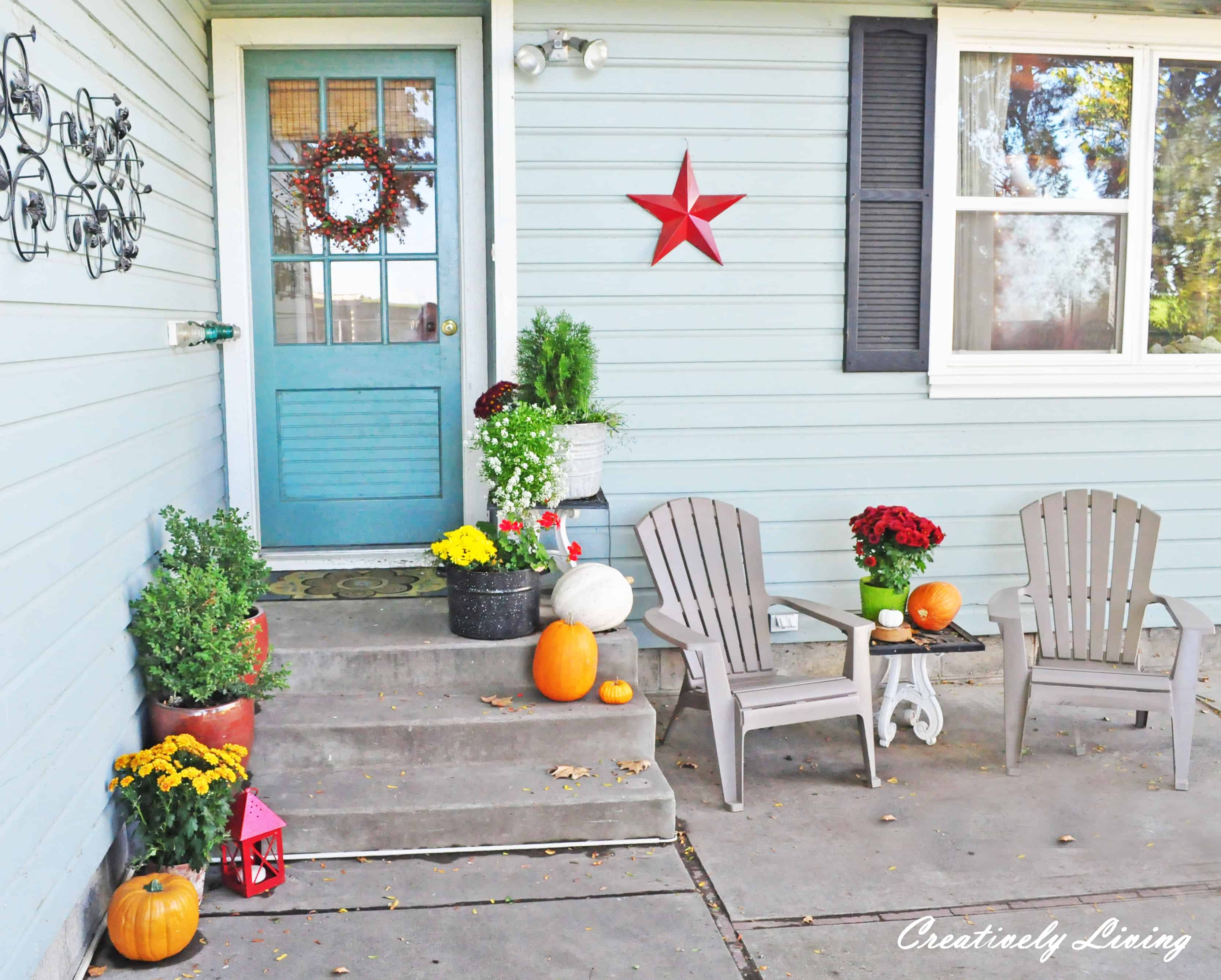 Simple Fall Back Porch