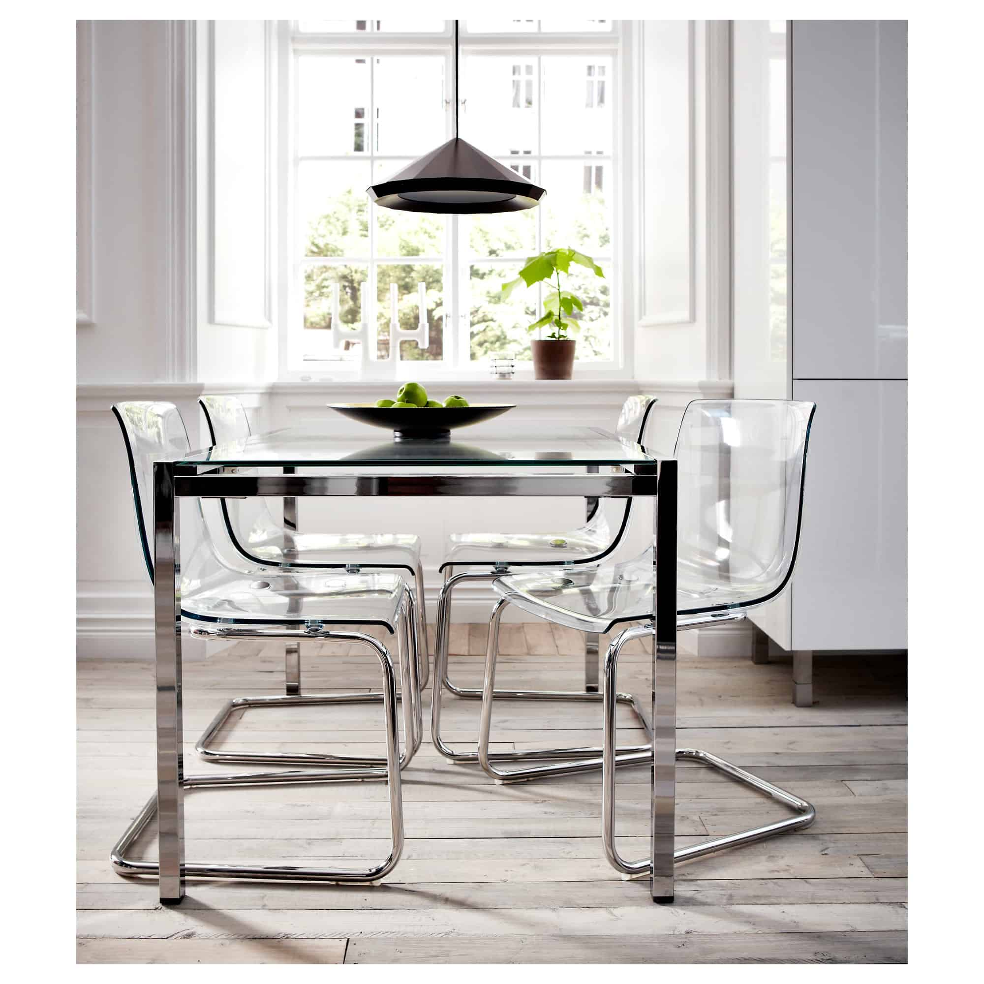 acryilic and metal modern chairs
