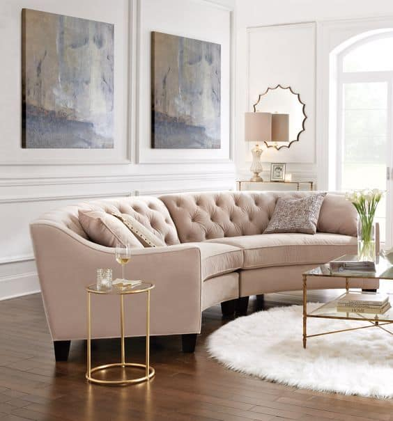 Curved Sofa For Small Spaces: These 20 Curved Sectional Couches Are Perfect For Big Families