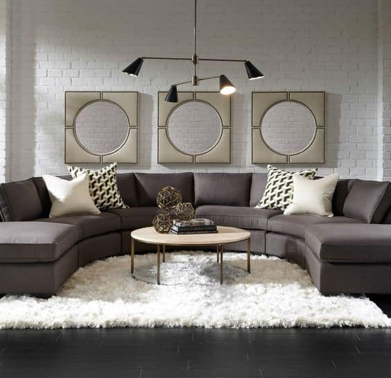 charcoal large sectional sofa