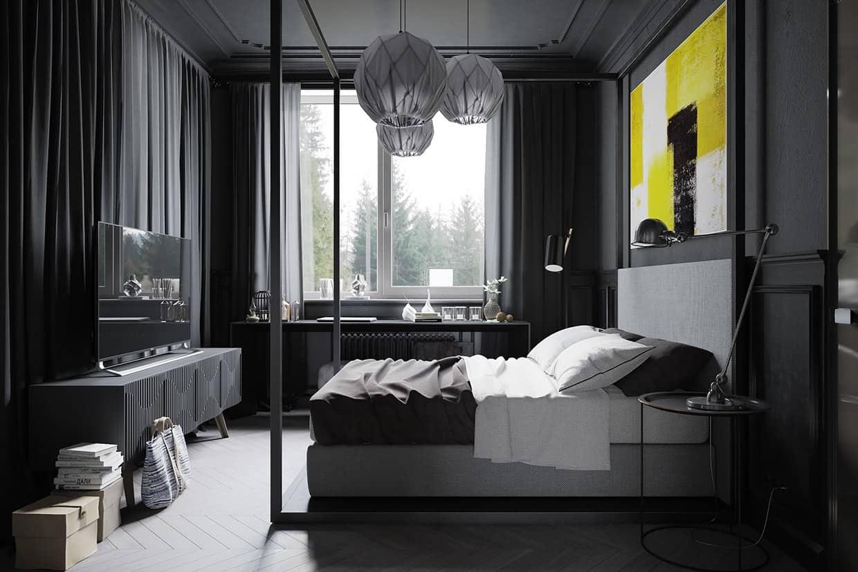 dark-gray-bedroom-design-interior-design-ideas