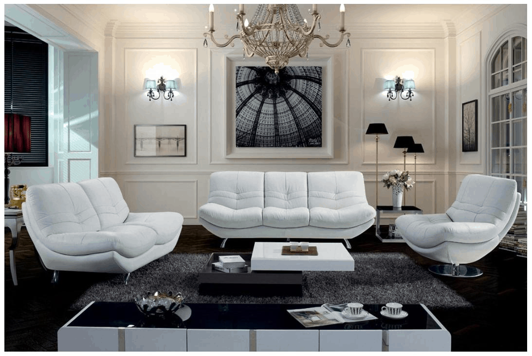 decorative-white-livingroom-furniture-and-modern-chandleliers-with-black-fur-rug-Home-Design-Ideas-Breathtaking-White-L-white-gloss-living-room-furniture-uk