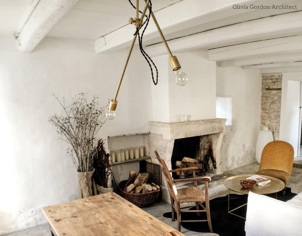 double arm brass chandelier