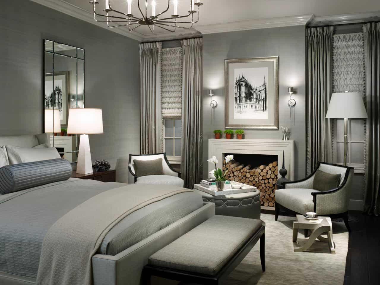 gray posh bedroom