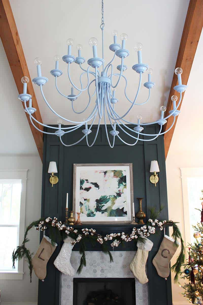 modern brass chandelier makeover