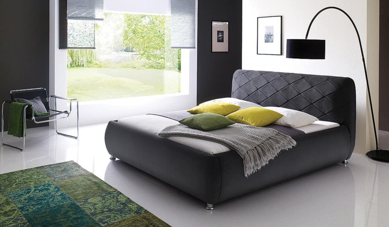 modern feminine black bed