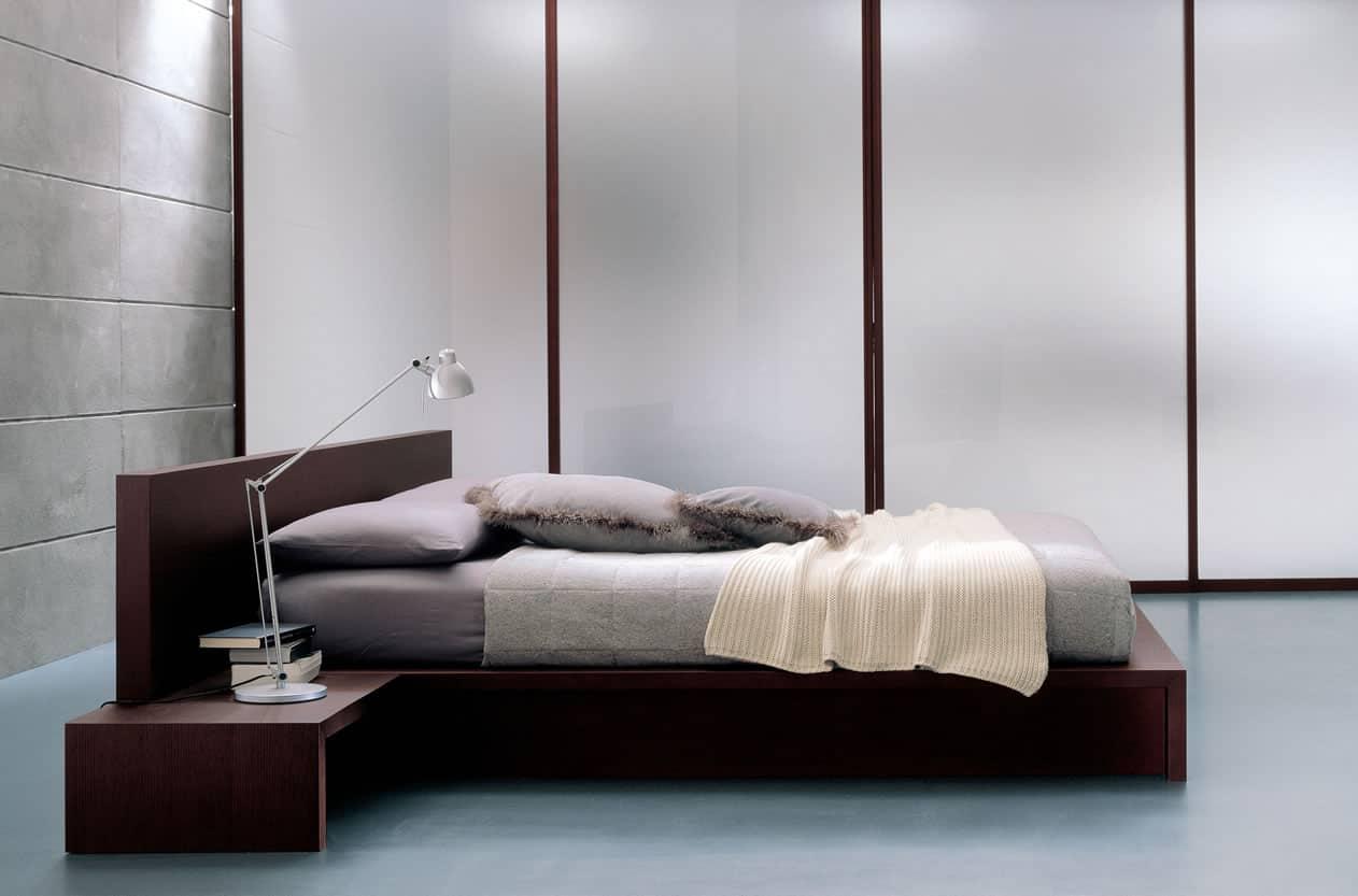 modern italian wood bed
