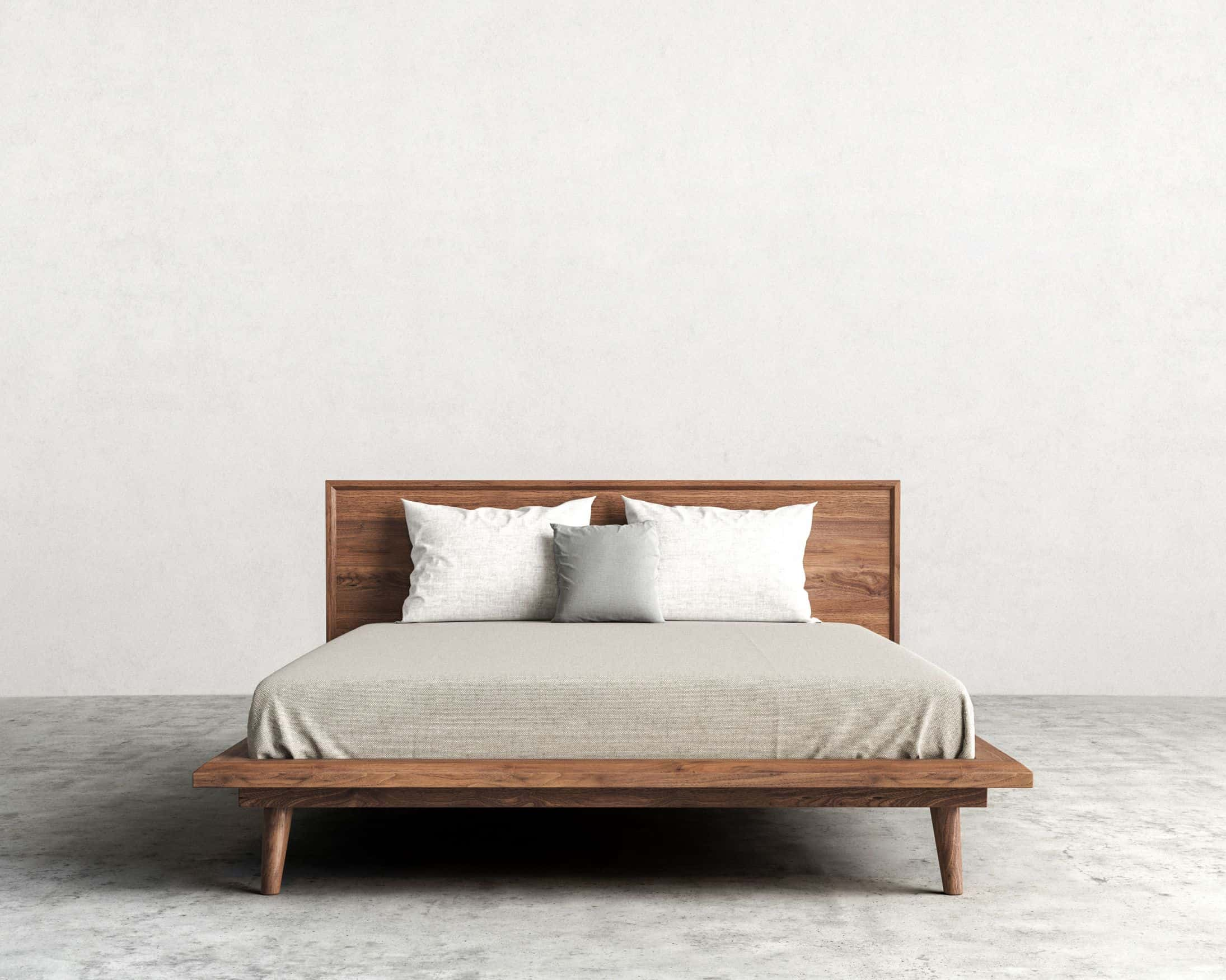 modern platform bed with legs