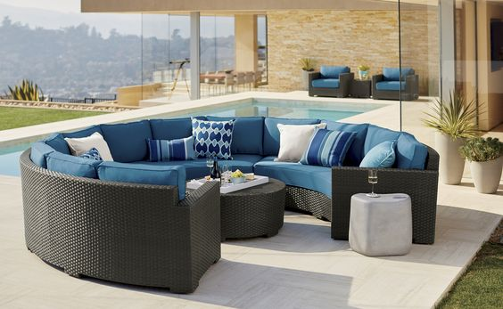 outdoor sectionla sofa