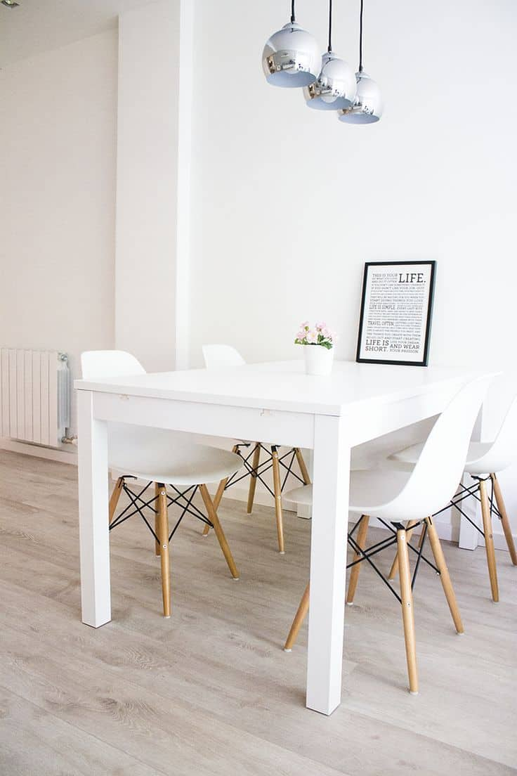 Lighten up dinner time with these 15 white dining room tables for White dining room chairs