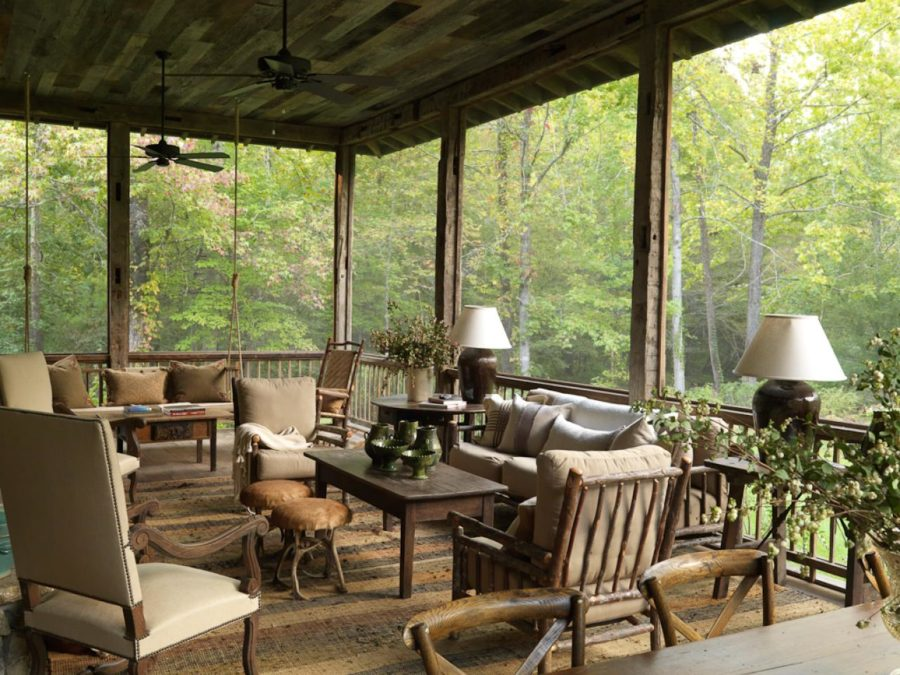 rustic back porch idea 900x675 15 Super Simple Back Porch Ideas
