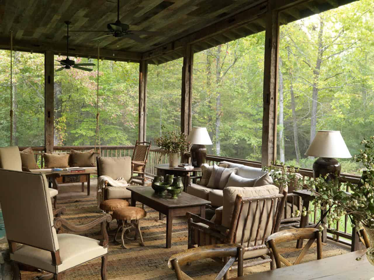 rustic back porch idea