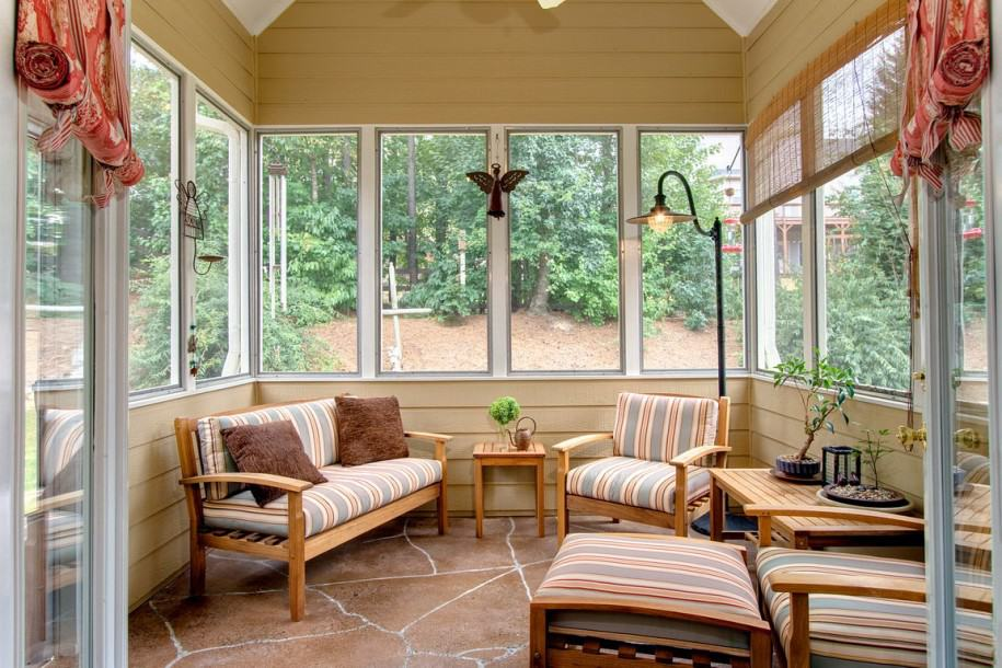 rustic modern sunroom furniture