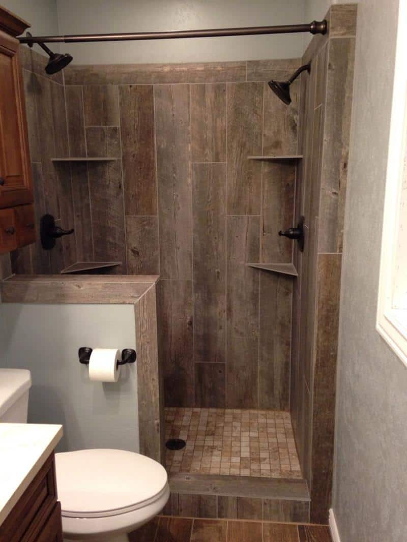 rustic tile shower idea 15 Tile Showers To Fashion Your Revamp After