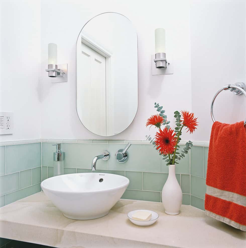 sea-glass-tile-Bathroom-Contemporary-with-accent-colors-Bath-Accessories