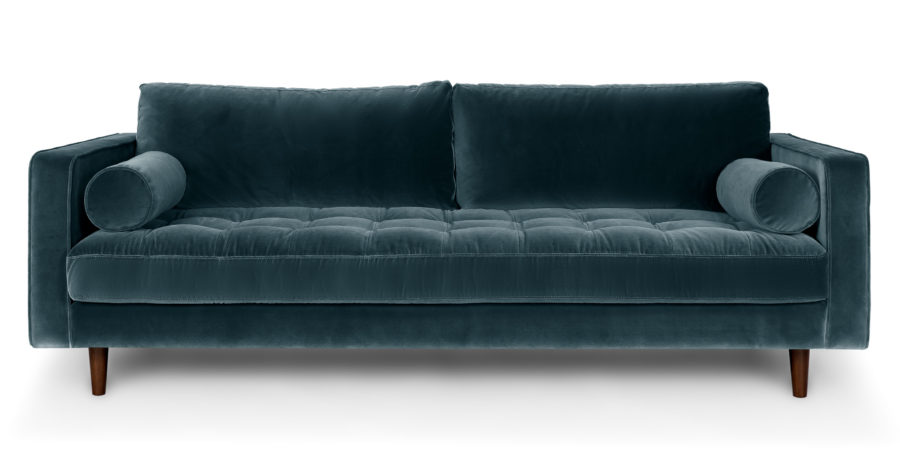 sven cascadia blue sofa 900x467 40 Velvet Sofas That Add A Bit of Sex Appeal To The House