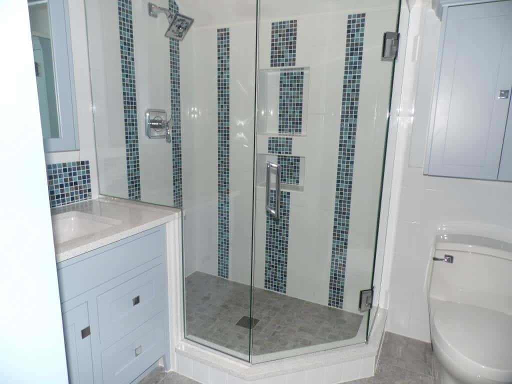tile and stone shower idea