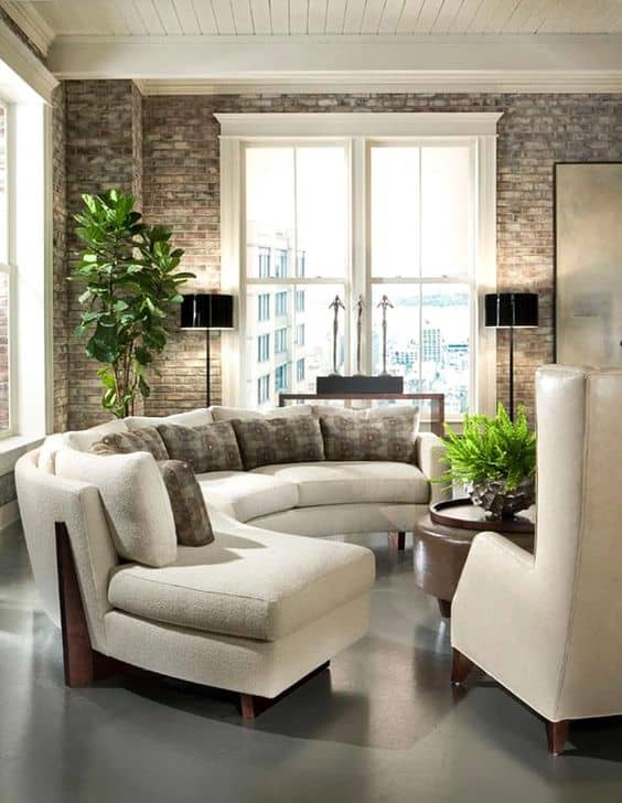 traditional curved sectional sofa