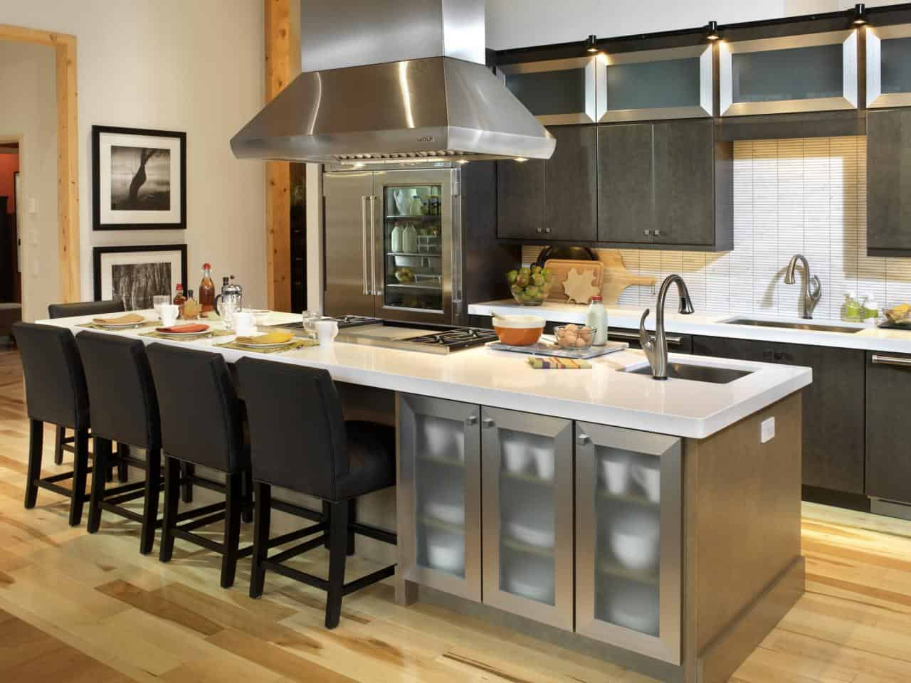 traditional kitchen island with seating