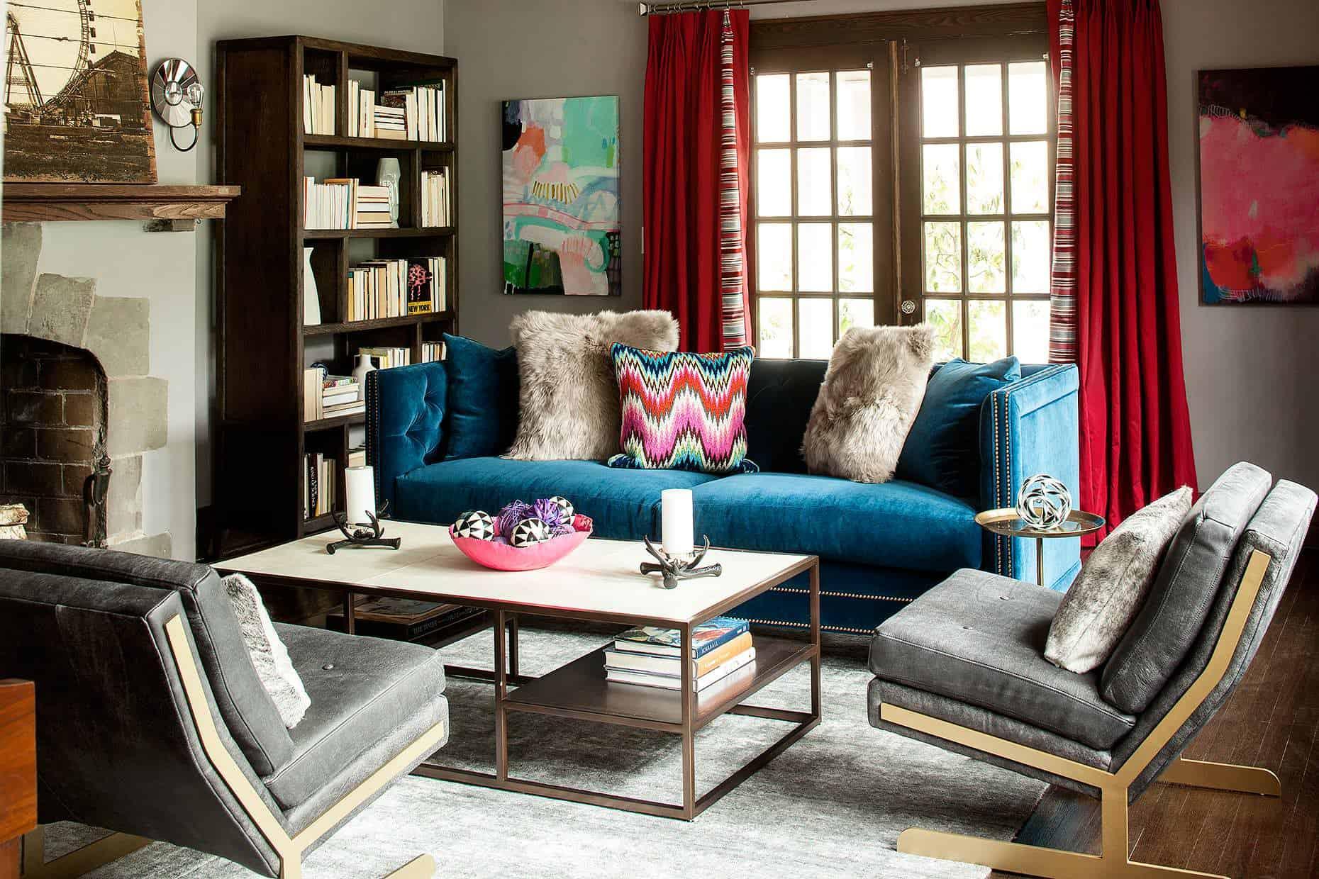 velvet-blue-boemian-tuxedo-sofa-couch-diy-ideas-grey-modern-chairs-farmhouse-new-york-red-drapes-brass-coffee-table-grey-living-room-shop-room-ideas