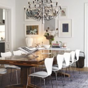 white and metal dining room chairs 285x285 40 Modern Chairs For Any Room Of The House