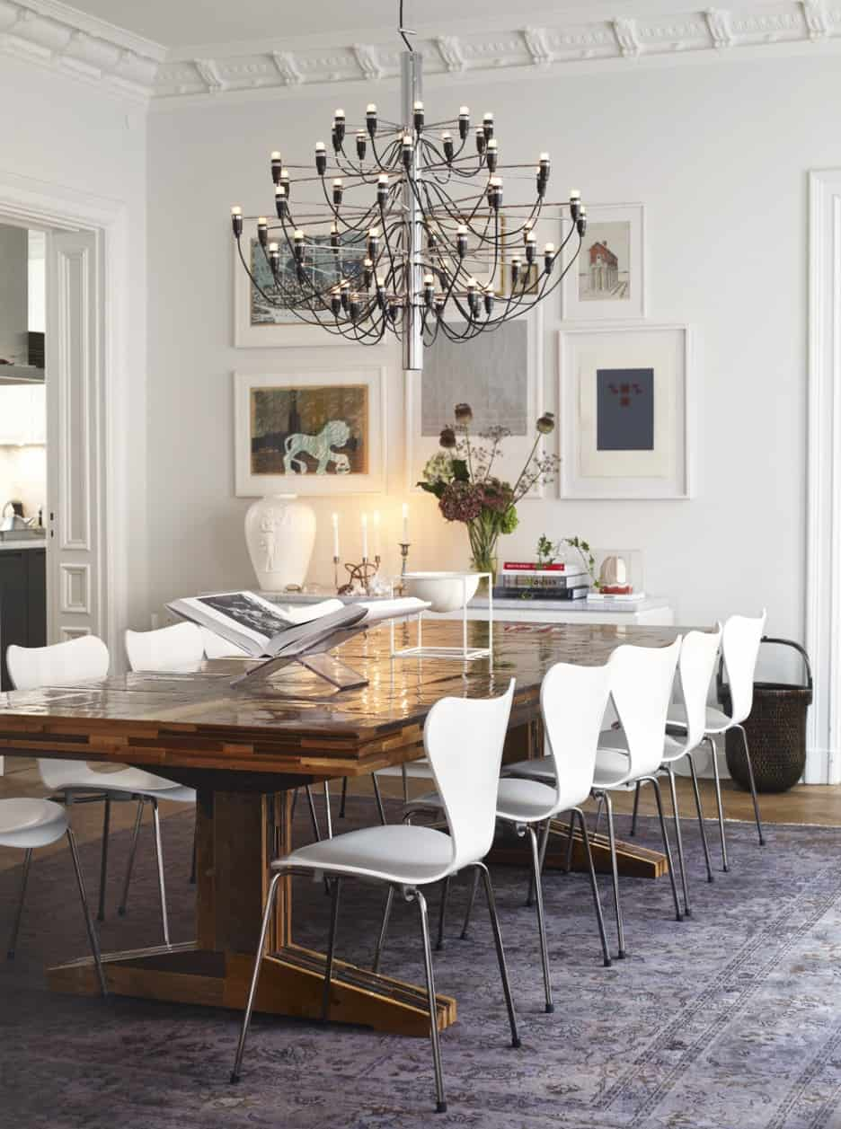 white and metal dining room chairs
